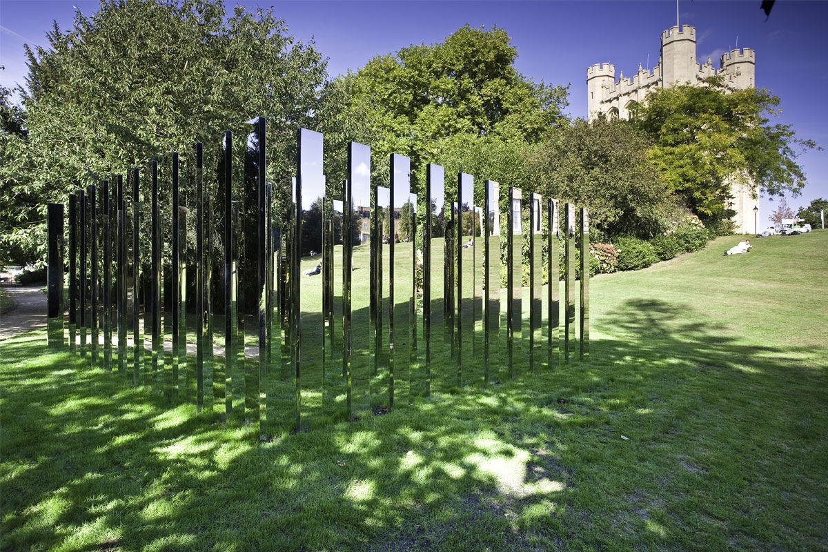 Mirrored Labyrinth located in Royal Fort Garden, University of Bristol