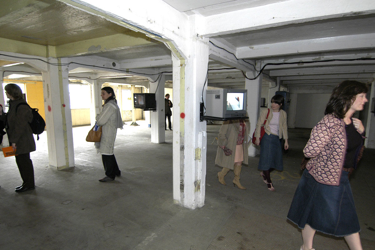 A film installation inside Huller Warehouse, Redcliffe