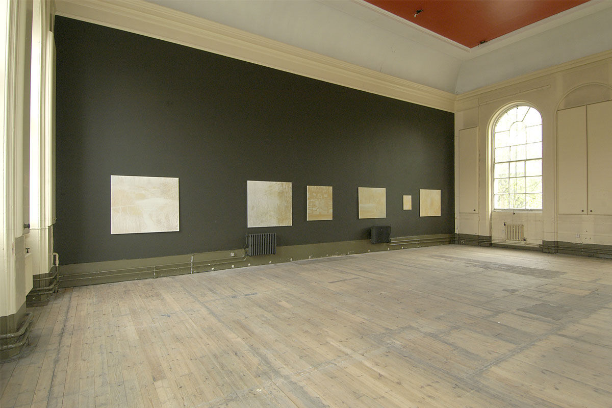 A series of gold and silver metallic paintings that took inspiration from Landscape Designer Humphrey Repton